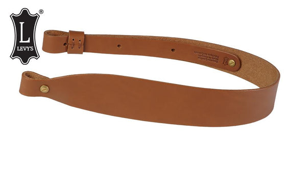 Levy's Leathers Classic Leather Cobra Rifle Sling, Natural Tan #S21-NAT