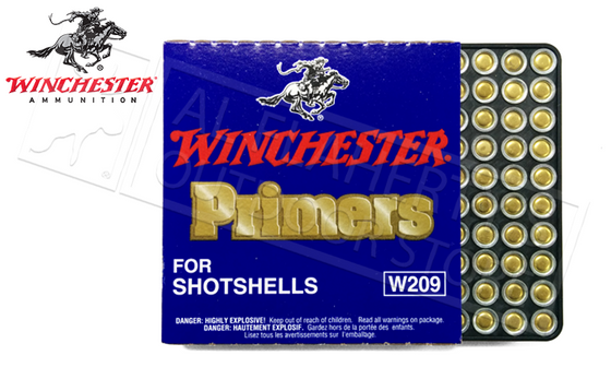 Winchster 209 Shotshell Primers, Strip of 100 #W209