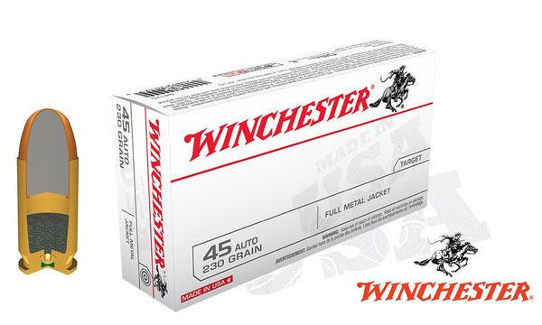 Winchester White Box .45ACP 230 Grain box of 50 #Q4170