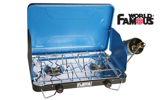 World Famous Deluxe 2 Burner Propane Camp Stove #2803