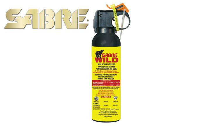 <b>(Store Pickup Only)</b><br> Sabre Frontiersman XTRA 1.0% Bear Spray, 225g with Belt Holster #CFBAD-02-X