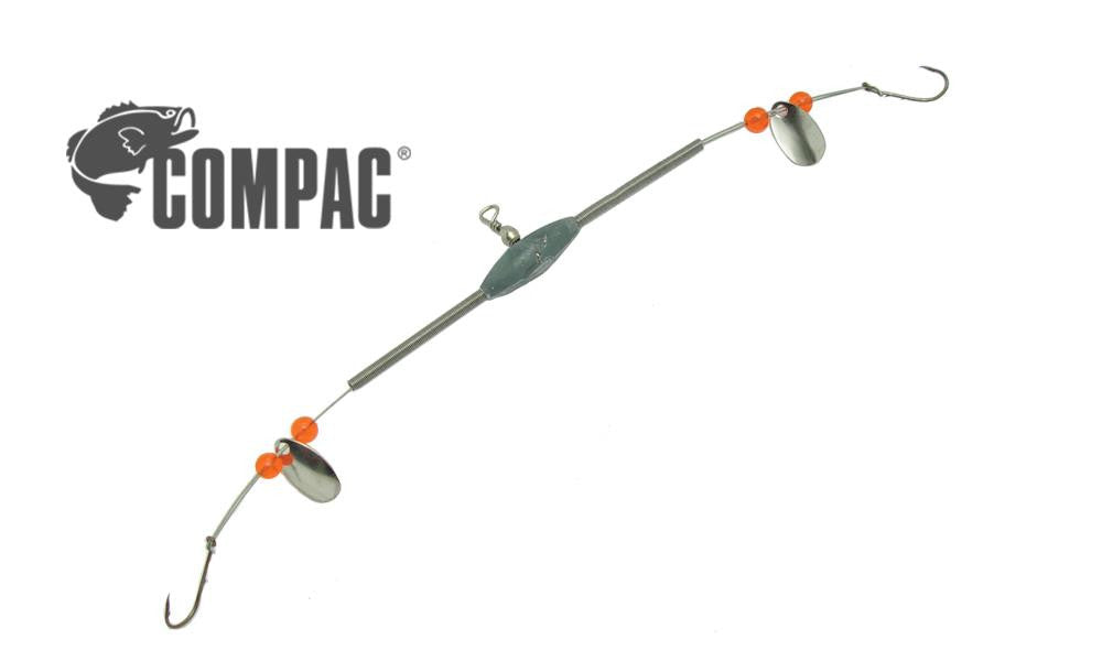 Compac Deluxe 2-Way Flexible Arm Spreader with Spinners and Beads, #6 Baitholder #2WSSP