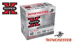 "<b>(Store Pickup Only)</b><br>12 Gauge, Winchester Super X High Brass Upland Shells, #7-1/2 Shot, 2-3/4"", 1-1/4 oz., 1330 fps, Box of 25 #X127"