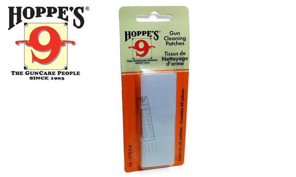 Hoppe's Cleaning Patches, .22 to .270, 60 Pieces #1202