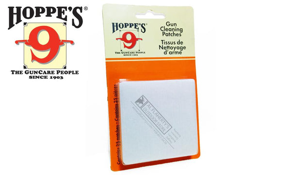 Hoppe's Cleaning Patches, 16 to 12 Gauge, 25 Pieces #1205