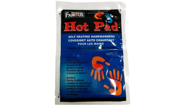 Hot Pad Self Heating Hand Warmers, 2-Piece Package #3302