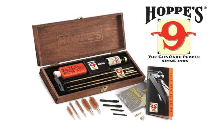 Hoppe's Deluxe Gun Cleaning Kit, 22 Caliber to 12 Gauge #BUOX