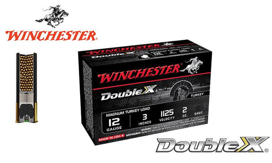 "<b>(Store Pickup Only)</b><br>12 Gauge, Winchester Double X Magnum Turkey Shells, 3"", 2 oz. #4, 5, 6 Shot, 1125 FPS, Box of 10 <br>#X123MXCT"
