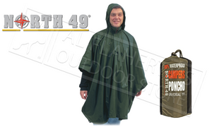 North 49 Campers Poncho with Carry Bag, Universal Fit #8790