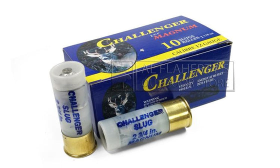 "Challenger Rifled Slugs, 12 Gauge, 2-3/4"" 1-1/8 oz., Pack of 10"