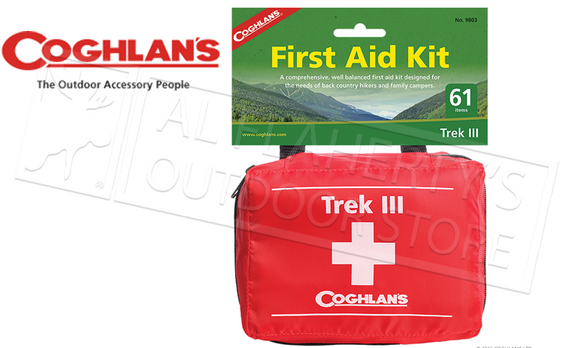 Coghlan's #9803 Trek III First Aid Kit 61-Pieces