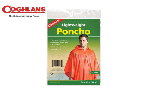 Coghlans Poncho - Blaze Orange, One Size Fits All #9267