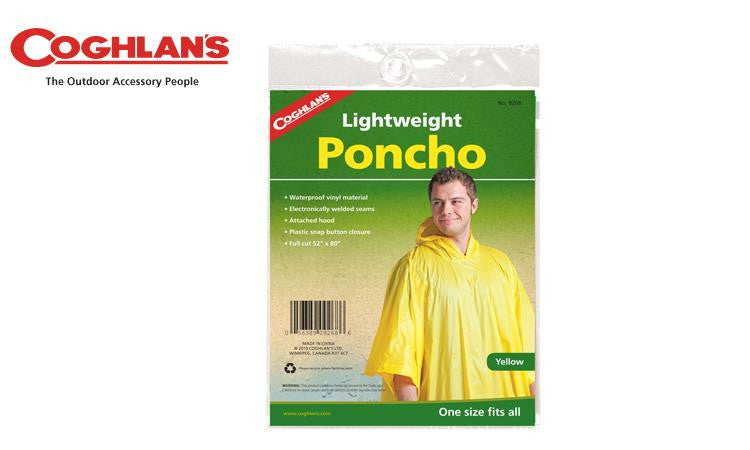 Coghlans Poncho - Yellow, One Size Fits All #9268