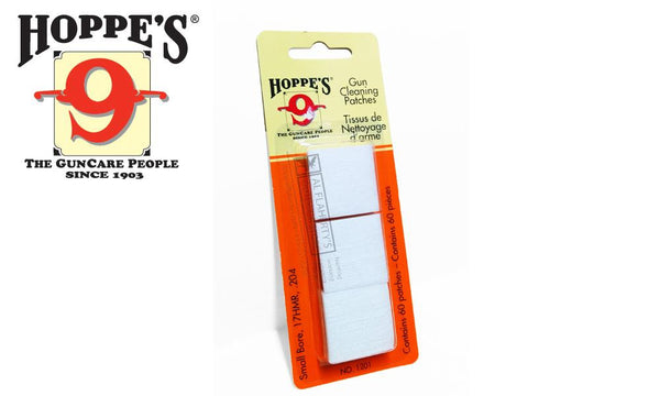 Hoppe's Cleaning Patches, 17HMR to .204, 60 Pieces #1201