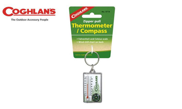 Coghlans Zipper Pull Thermometer with Compass #9714