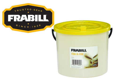 Frabill Fish-N-Fun Bait Bucket, 4.5 Quart / 4.3 Litre #4600