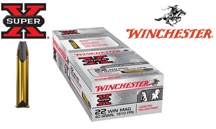 <b>(Store Pickup Only)</b> <br> Winchester Super-X, .22 Win Mag, 40 Grain JHP #X22MH