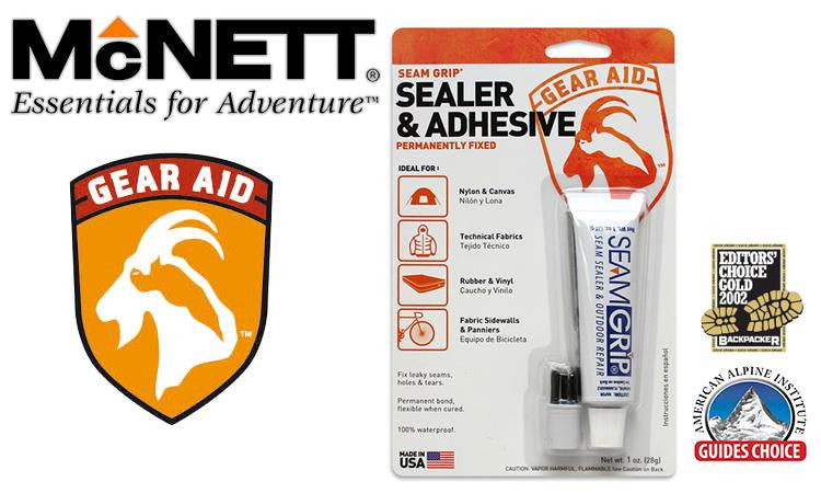McNett Gear Aid Seam Grip - Sealer & Adhesive, 28g / 2 oz. Tube #1200 #10510