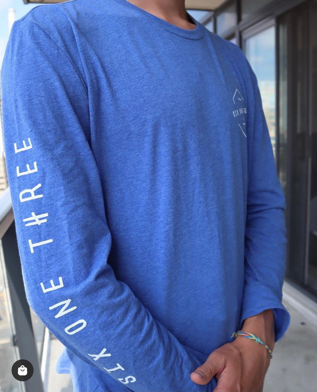 NEW Heathered Blue Long sleeve