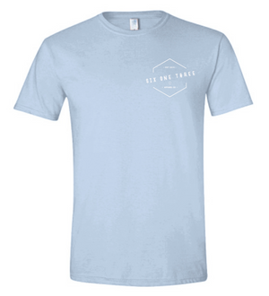 Light Blue SIX ONE THREE t-shirt