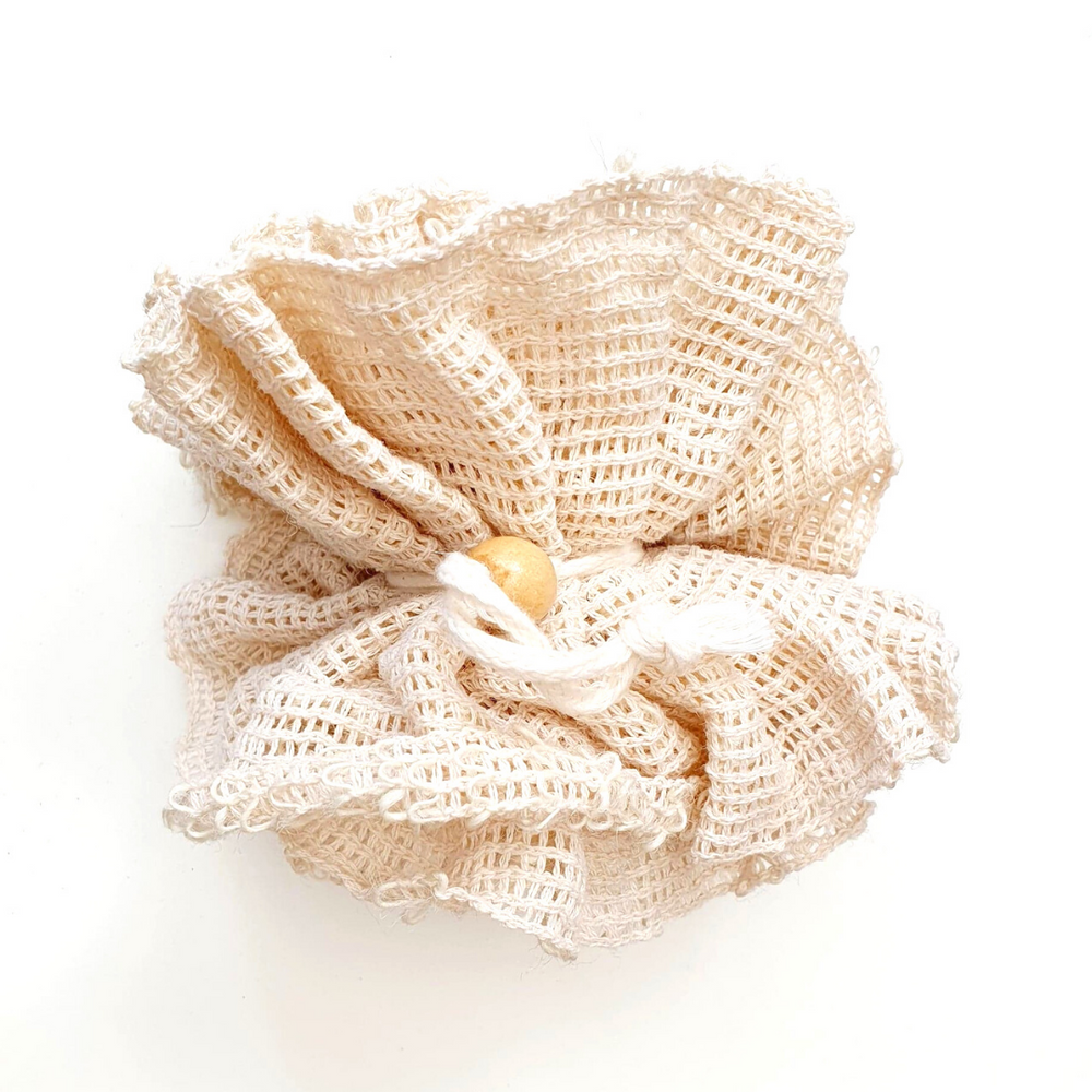 Sisal Flower Shower Scrunchie