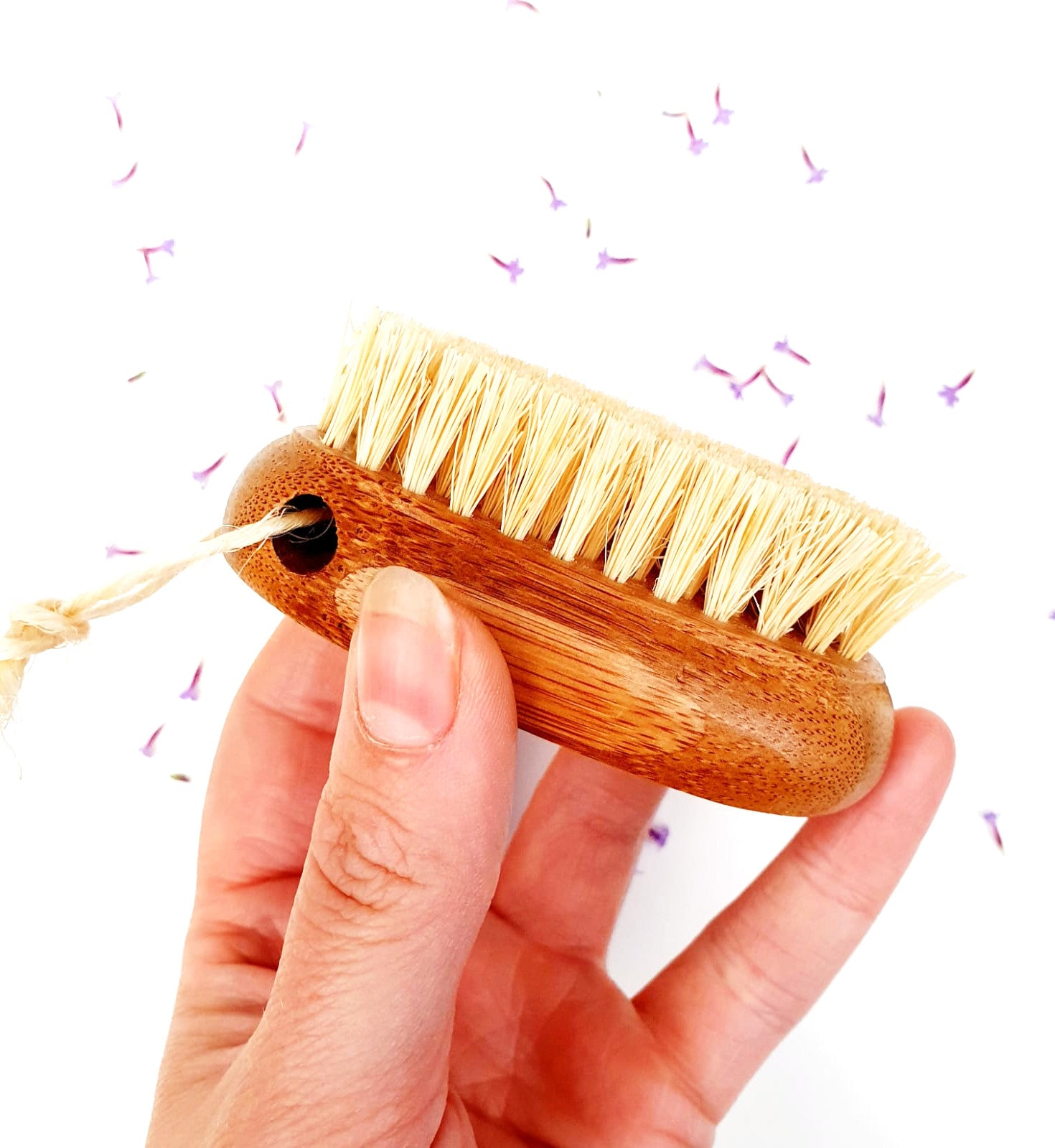 Bamboo Nail Brush with Coconut Husk Bristles