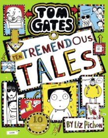 Tom Gates 18 - Ten Tremendous Tales - comes with a signed bookplate and... a superb Pin