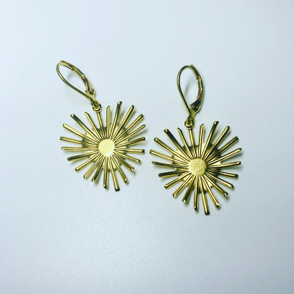 Mexican sacred heart earrings