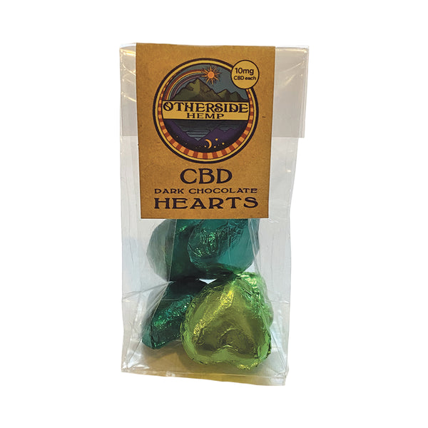 CBD Dark Chocolate Hearts