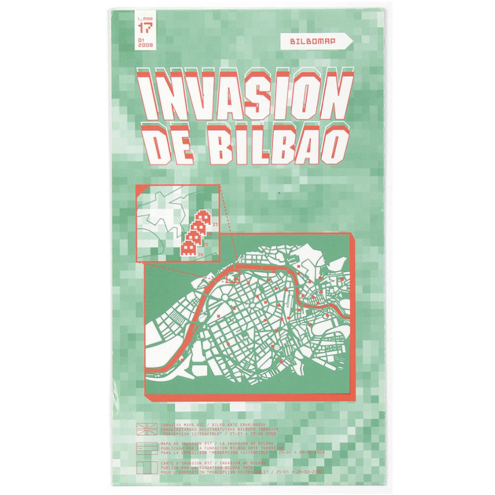 Invader - Invasion Map, Bilbao - 2008