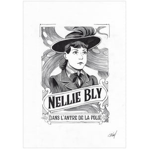 Carole Maurel - Nellie Bly - Illustration originale Page Titre