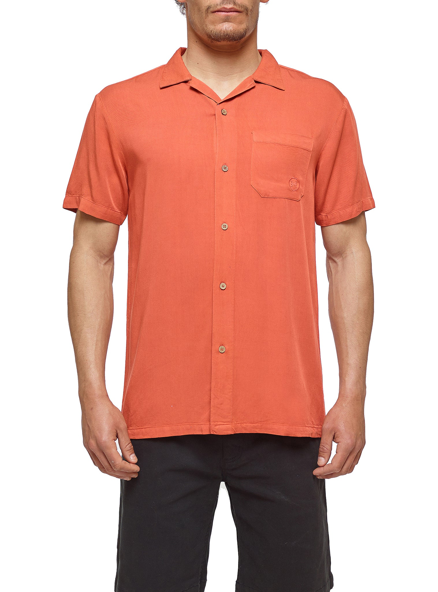 Camp Shirt Shortsleeve Orange