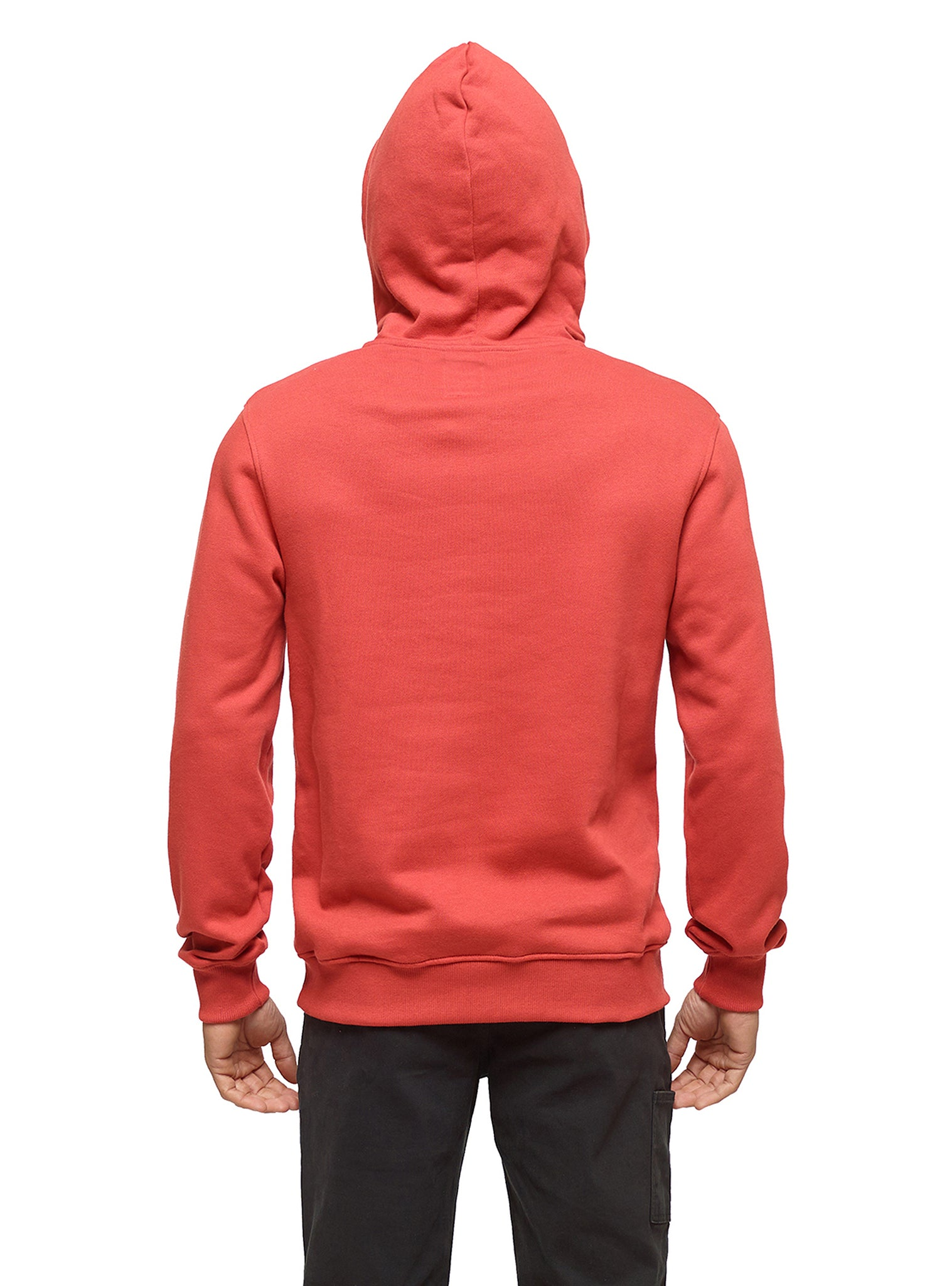 Embroidery Sweat Hoodie Red