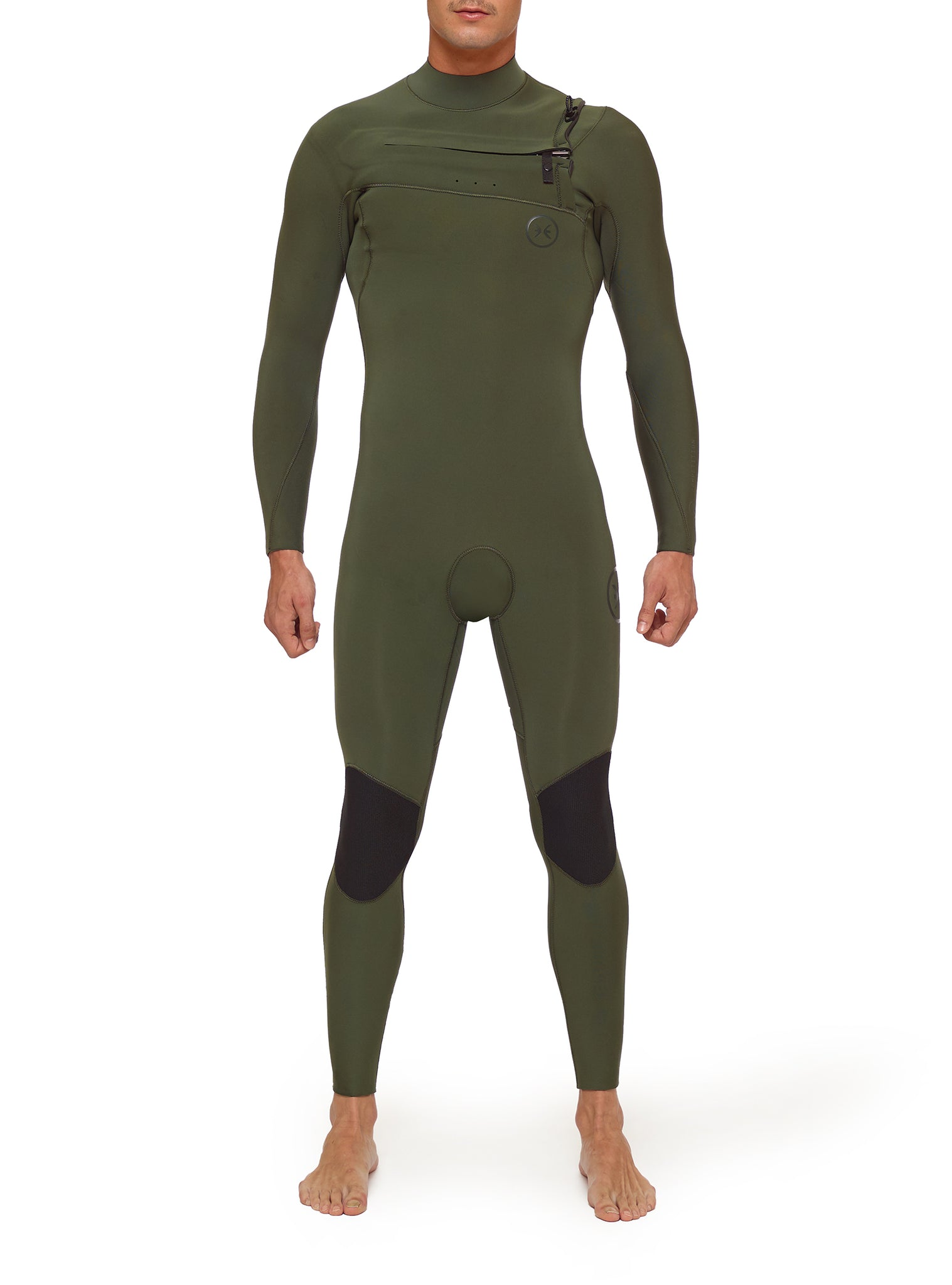 Wetsuit Man Competition 4/3 Chest Zip Green