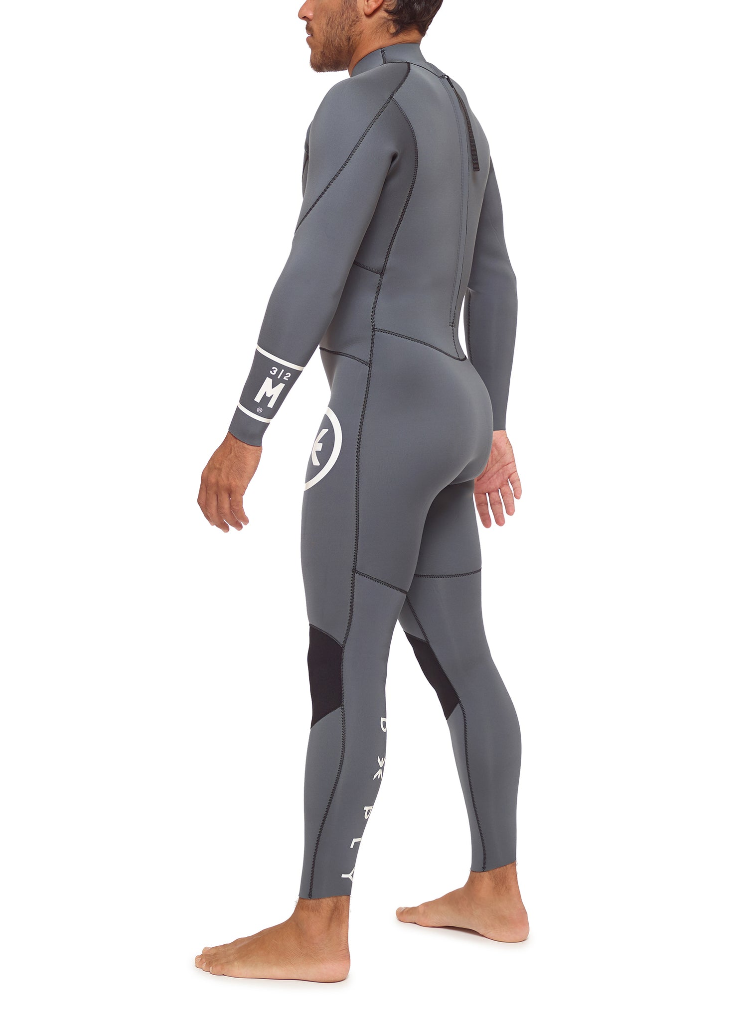 Wetsuit Man Surfschool 3/2 Back Zip Grey