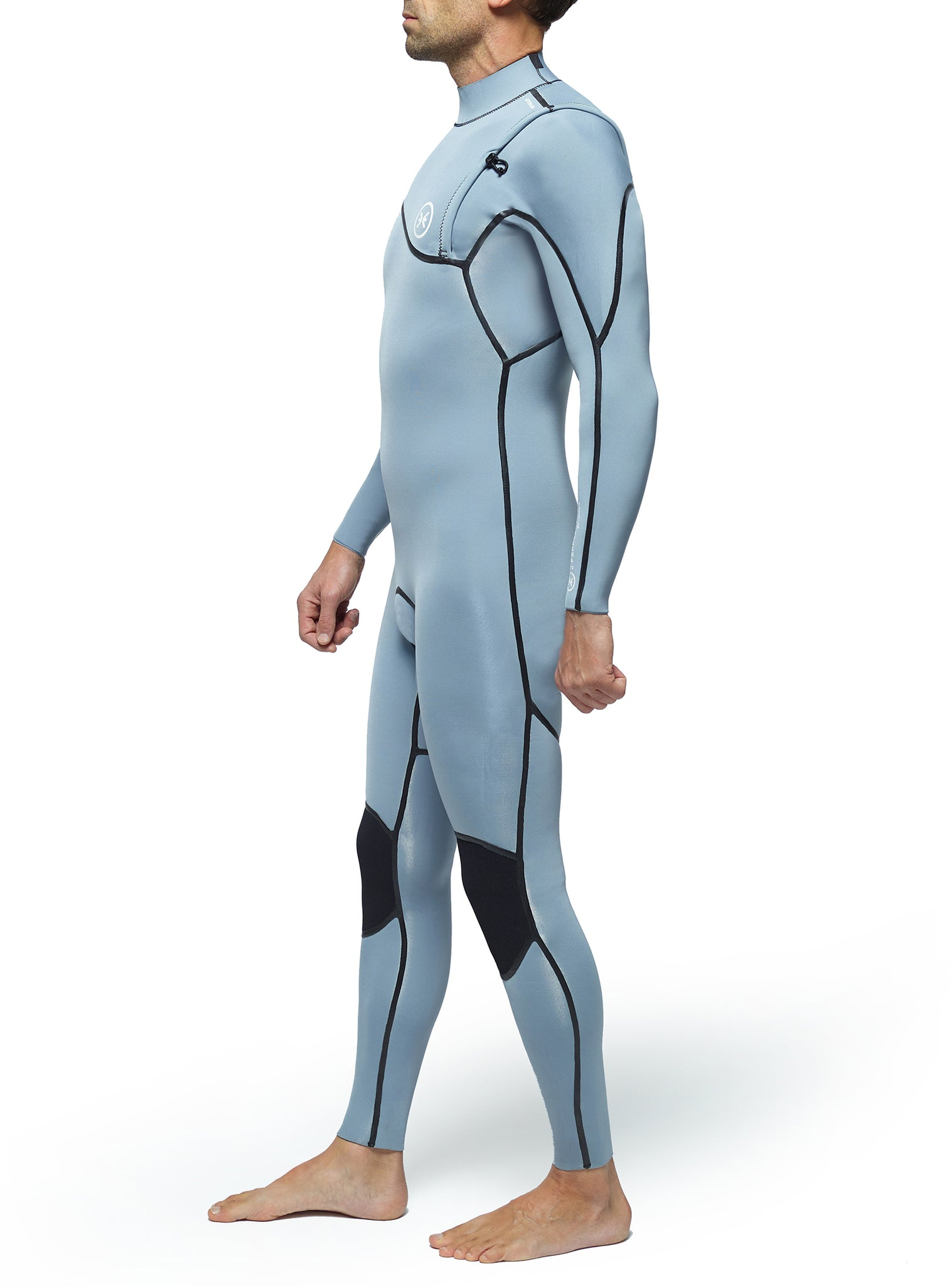 Wetsuit Man Performance 3/2 Zipperless Light Grey