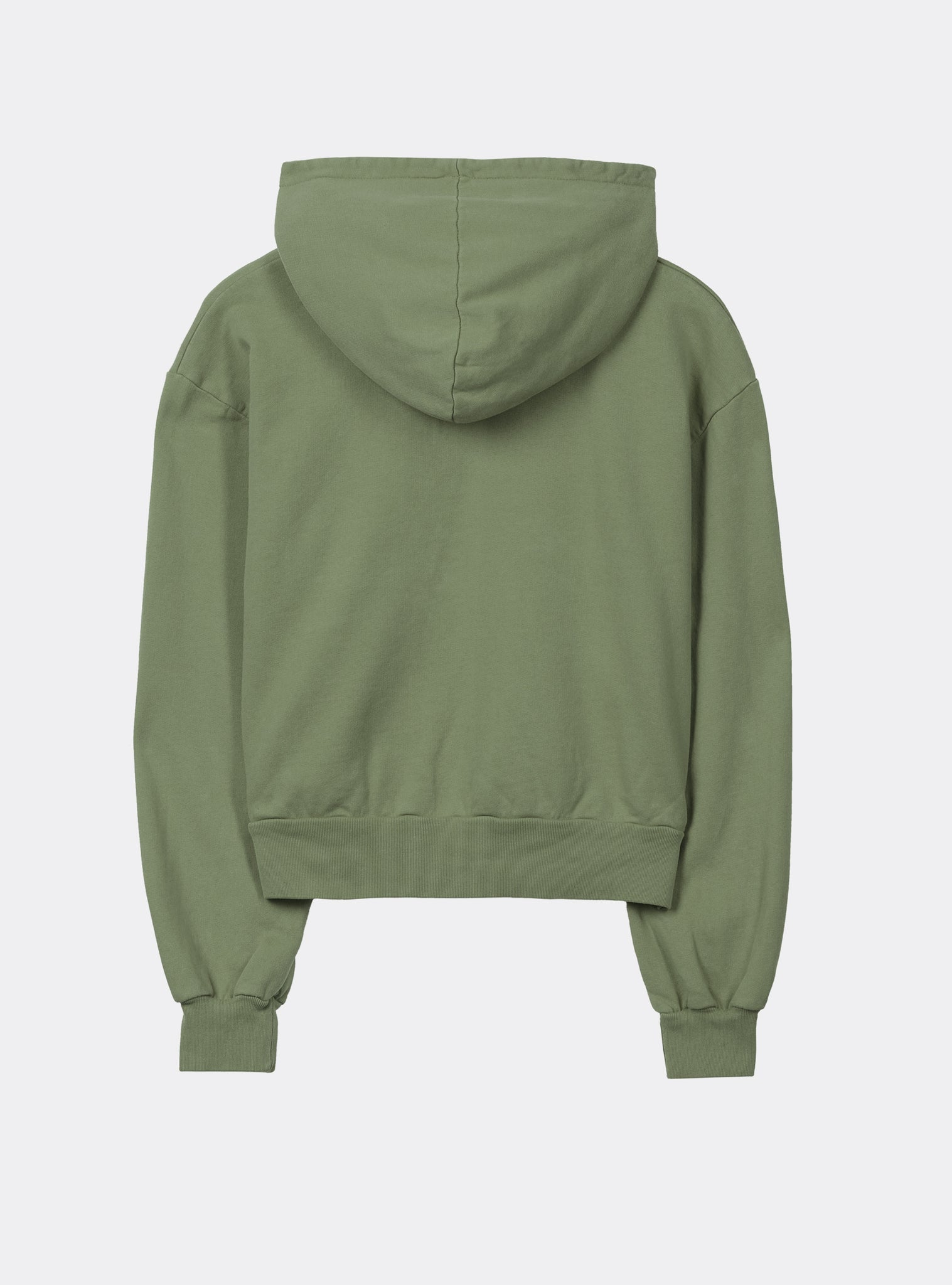 Retro Sweat Half Zip Hoodie Green