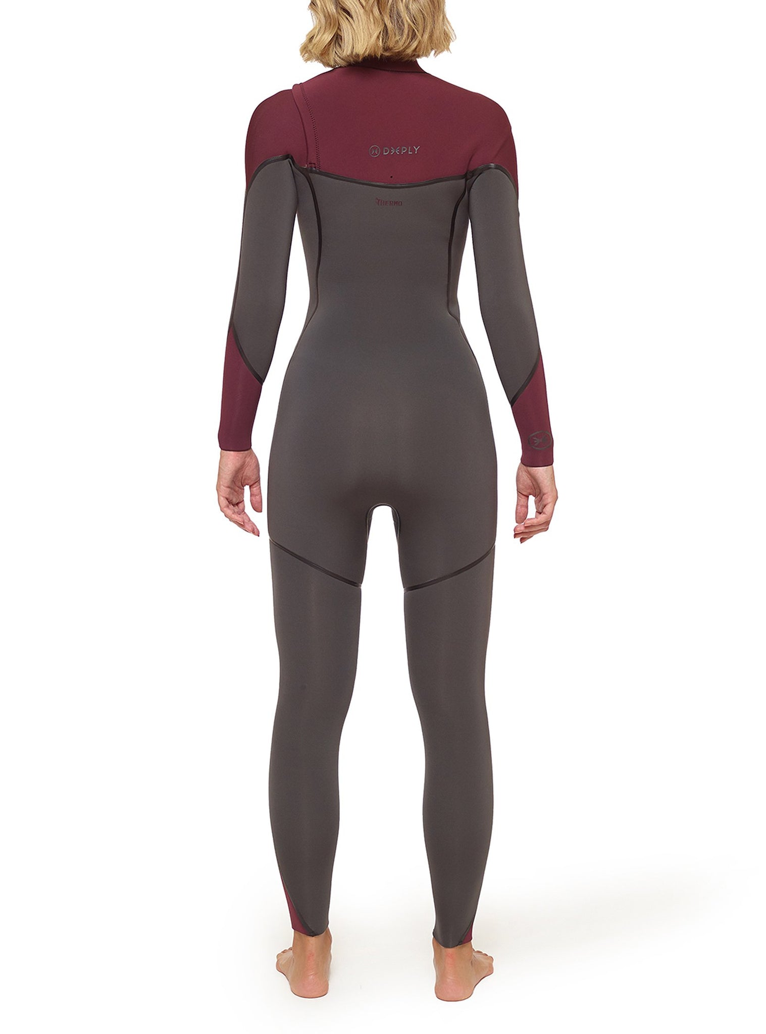 Wetsuit Woman Performance 4/3 Chest Zip Grey