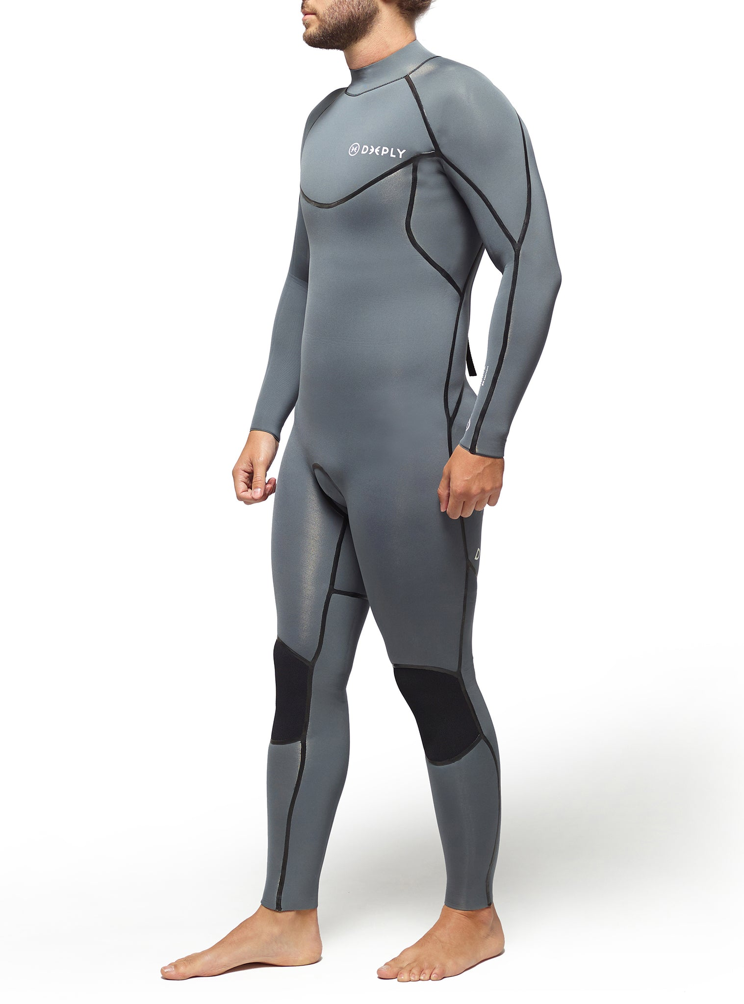 Wetsuit Man Performance 4/3 Back Zip Grey