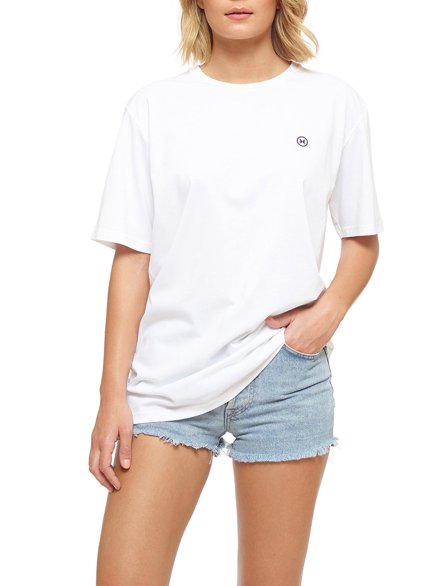 Embroidery Tee White