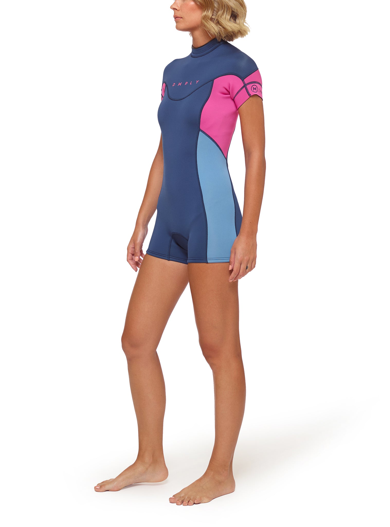 Wetsuit Woman Premium 2/2 Back Zip Blue