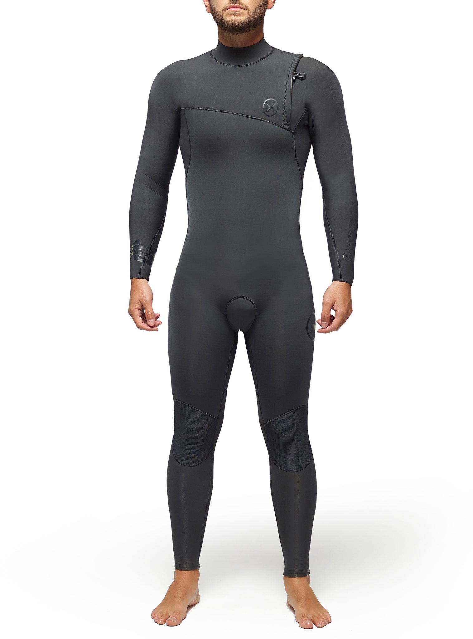 Wetsuit Man Competition 4/3 Zipperless Dark Grey
