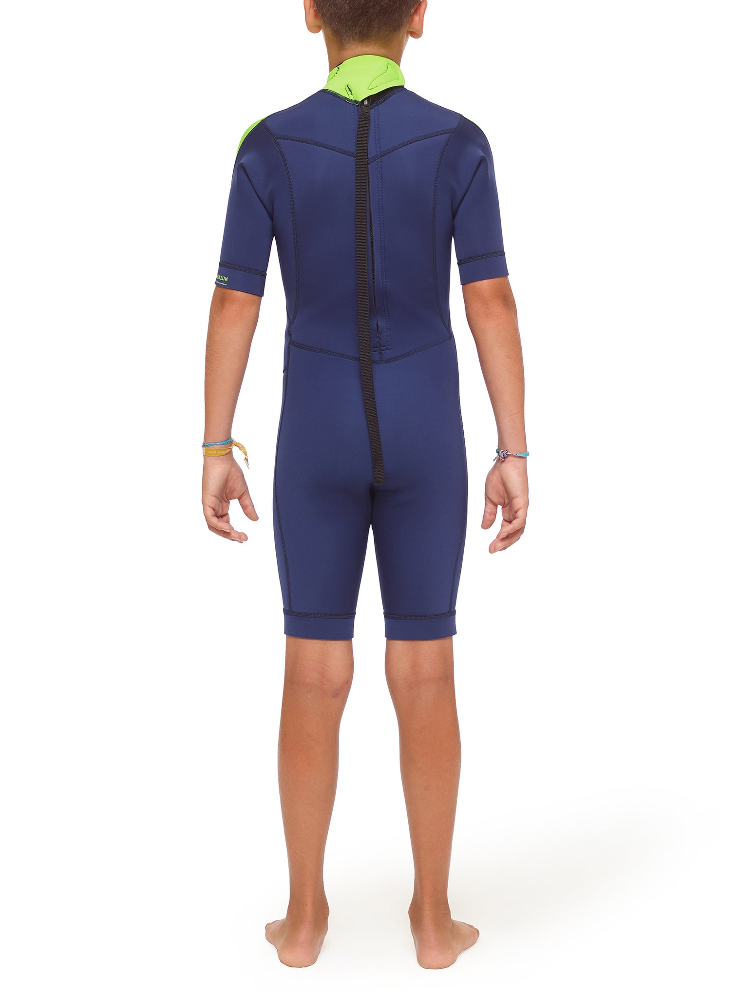 Wetsuit Junior Premium 2/2 Back Zip Navy Blue