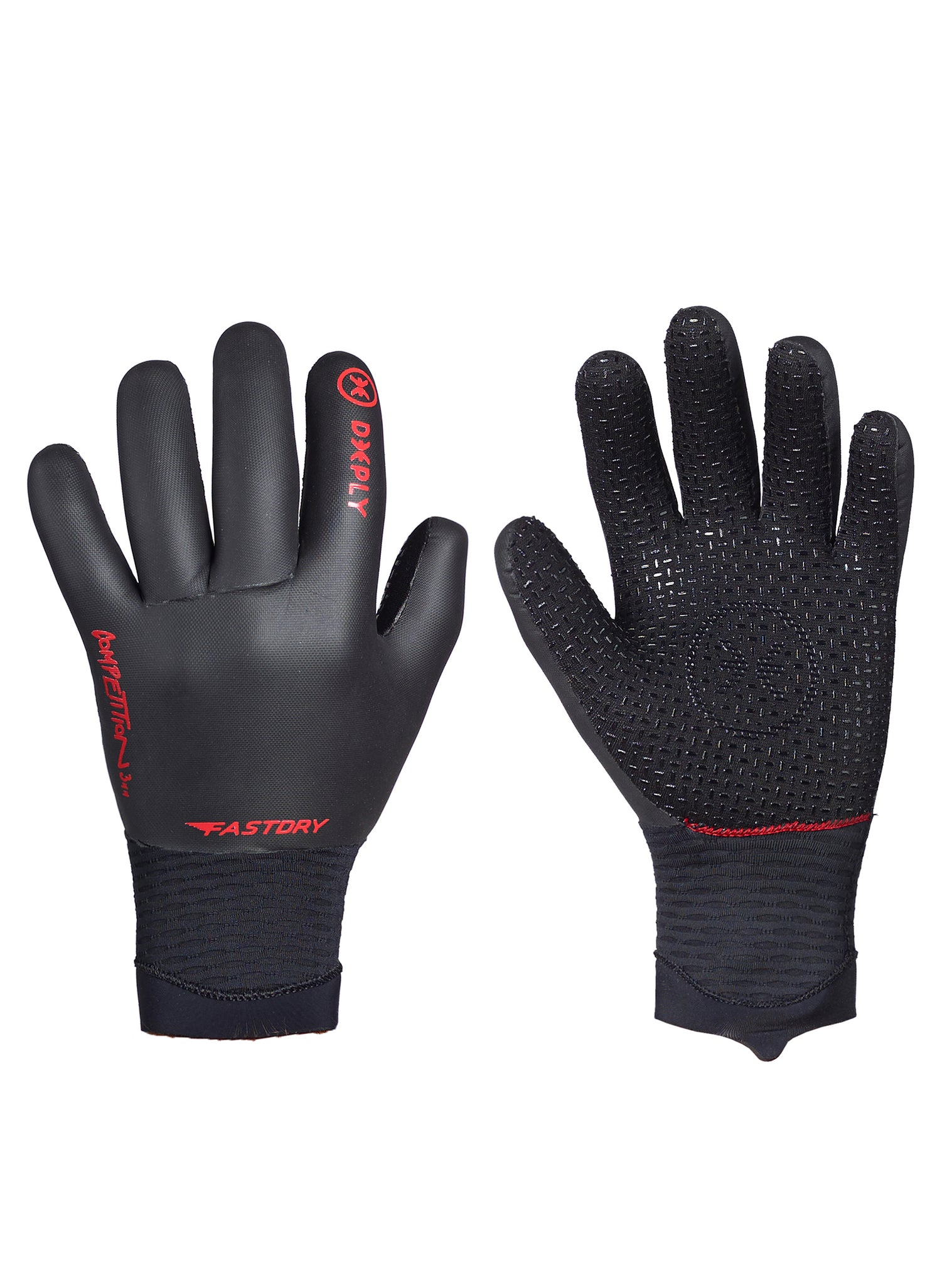 2mm Fastdry Surf Gloves Black