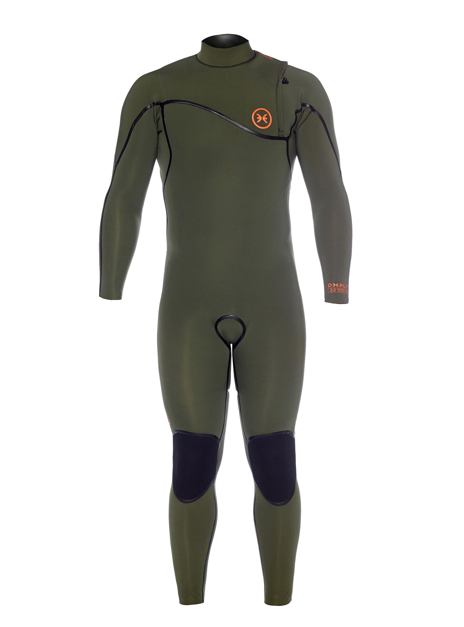 Wetsuit Man Performance 3/2 Zipperless Green