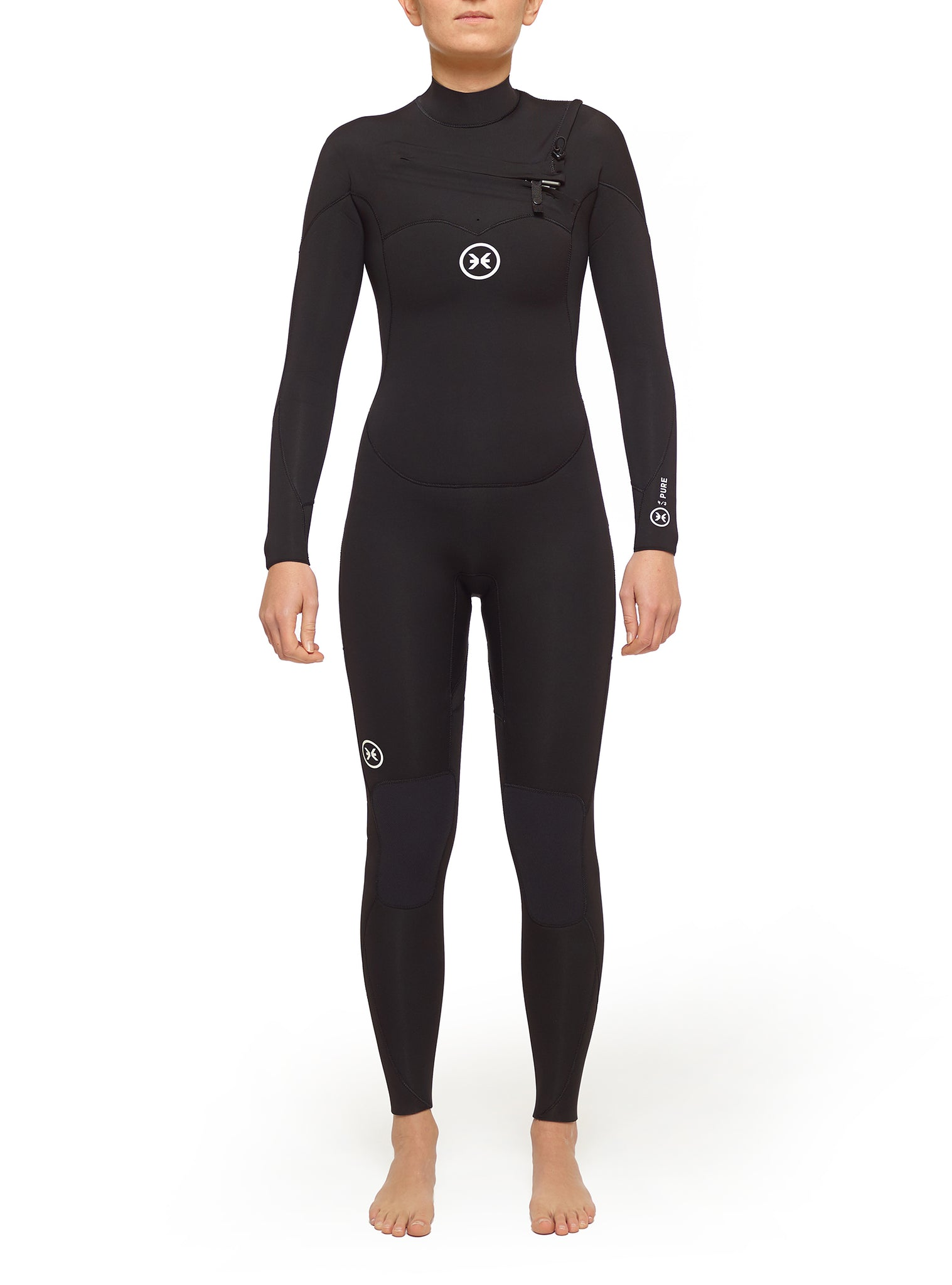 Wetsuit Woman Pure 4/3 Chest Zip Black