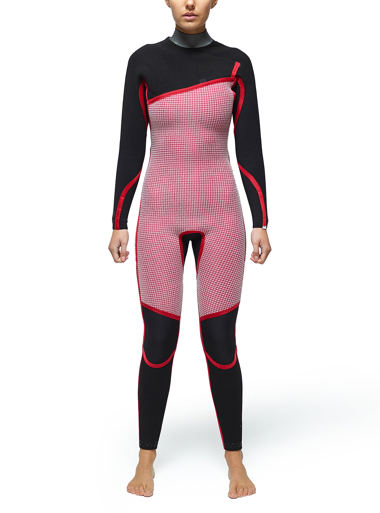 Wetsuit Woman Competition 4/3 Zipperless Pink