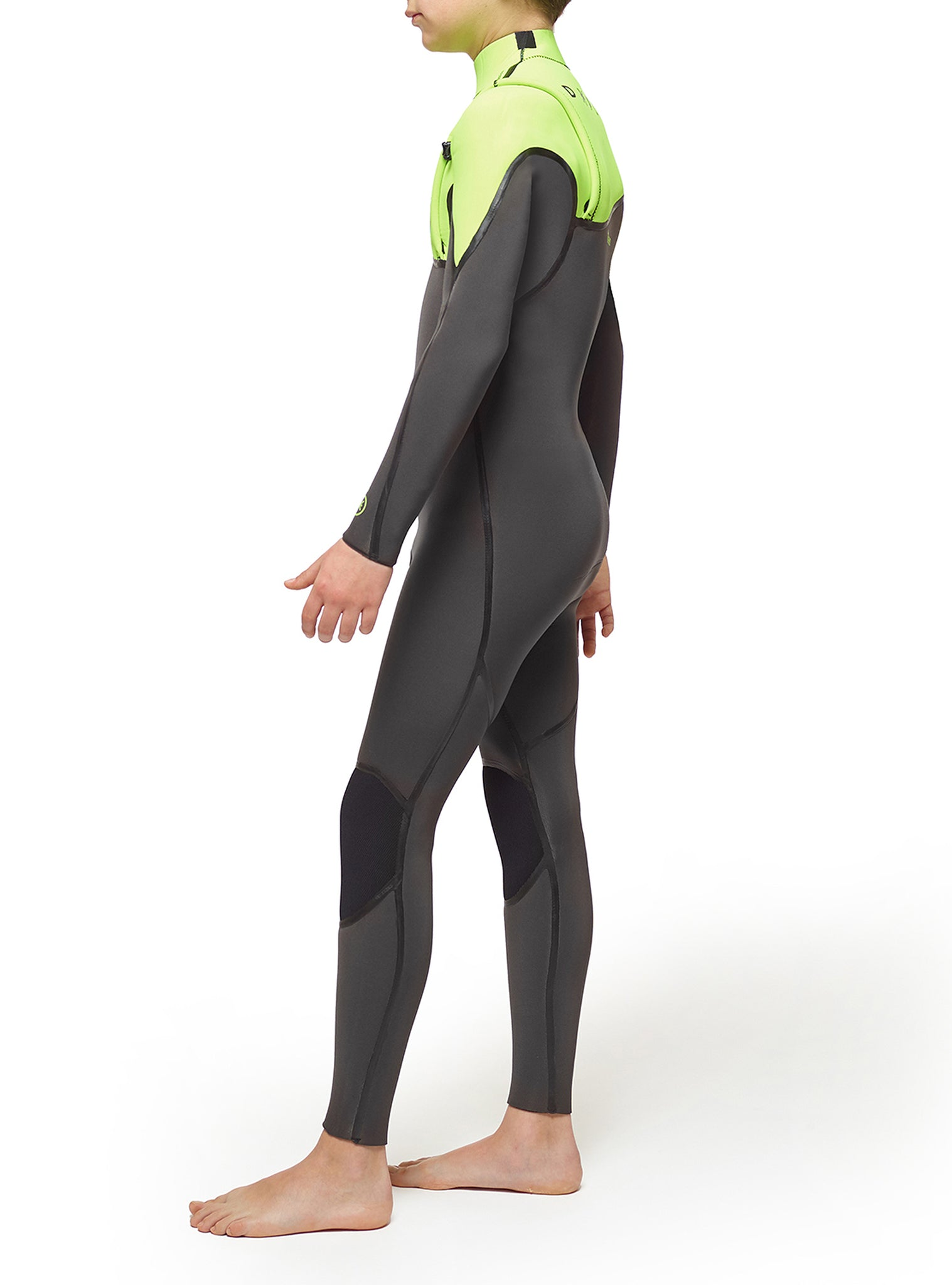 Wetsuit Junior Performance 4/3 Zipperless Dark Grey