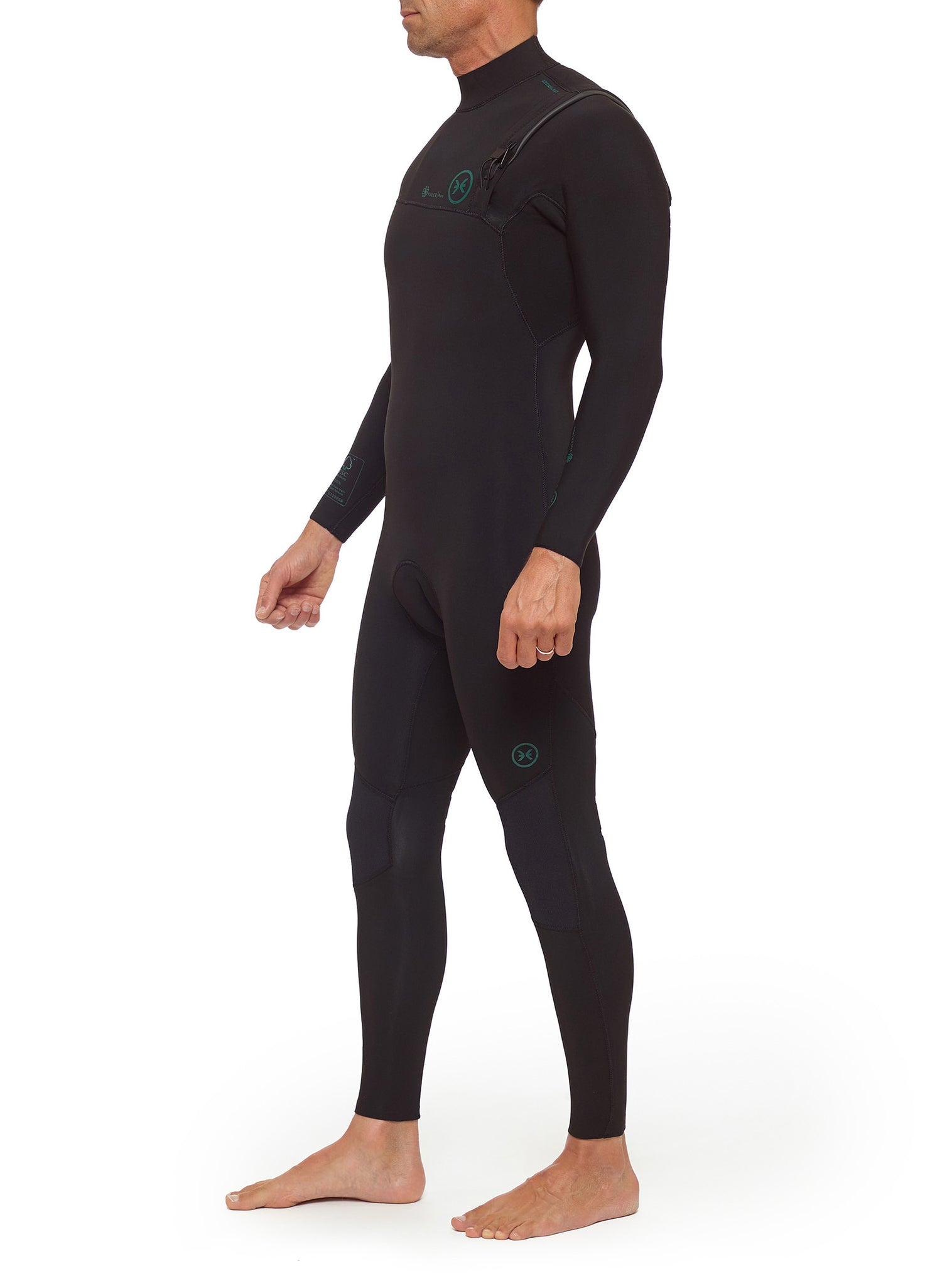 Wetsuit Man Competition Yulex 4/3 Zipperless Black