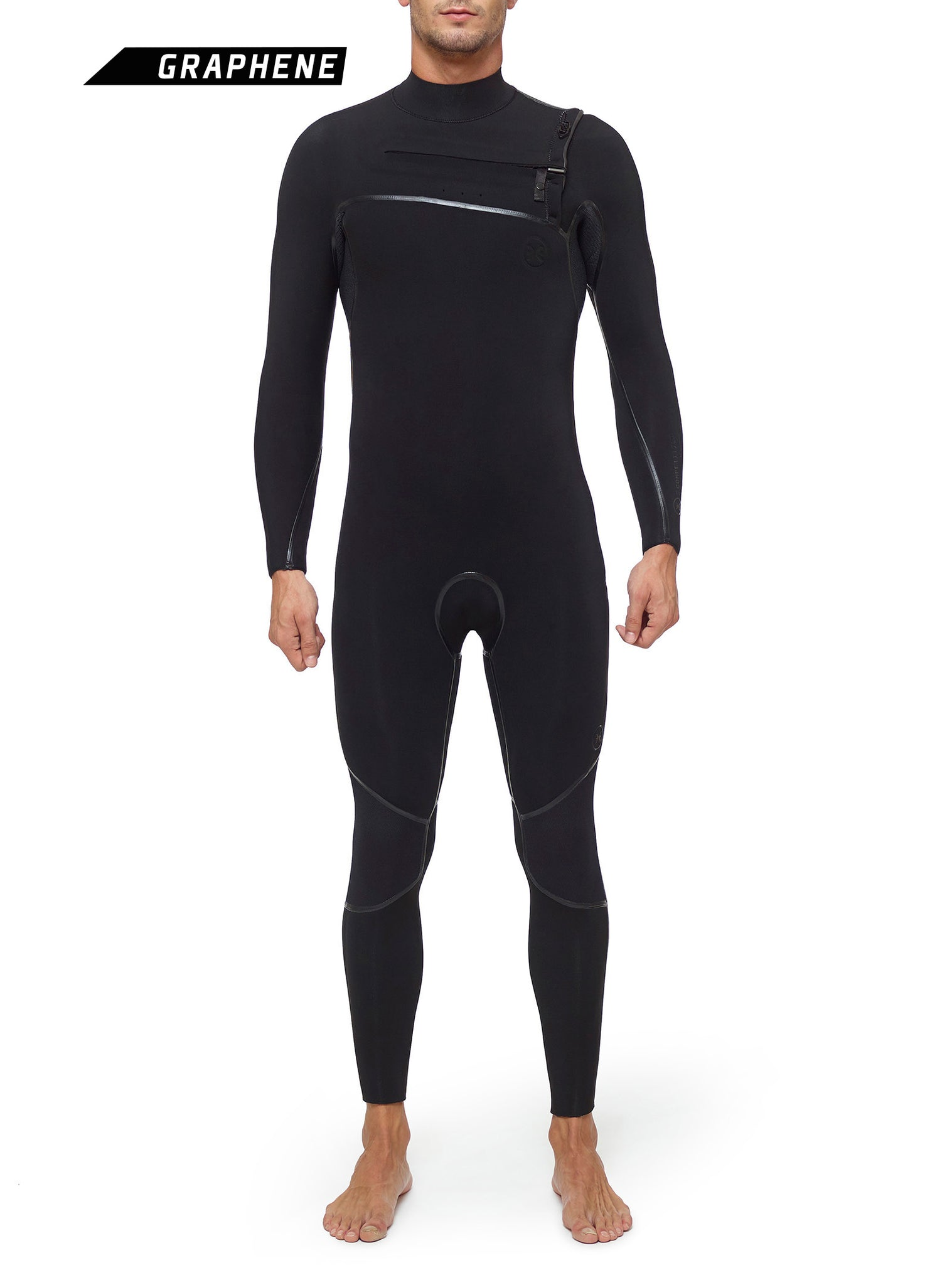 Wetsuit Man Competition 5/3 Chest Zip Black